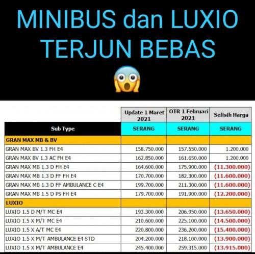 Promo Daihatsu Minibus & Luxio Terjun Bebas